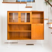 Hello Retro Design Mid Century G Plan E Gomme Coctail Cabinet Highboard Sideboard on Hairpinlegs
