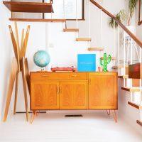 Hello Retro Design Gplan Sideboard ON Orange Hairpin Legs