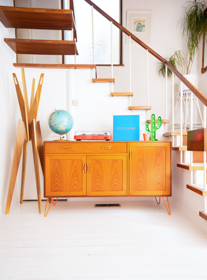 Hello Retro Design Gplan Sideboard ON Orange Hairpin Legs