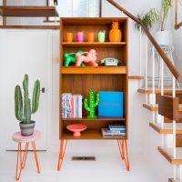 Hello Retro Design Gplan Bookcase on Orange Hairpin Legs