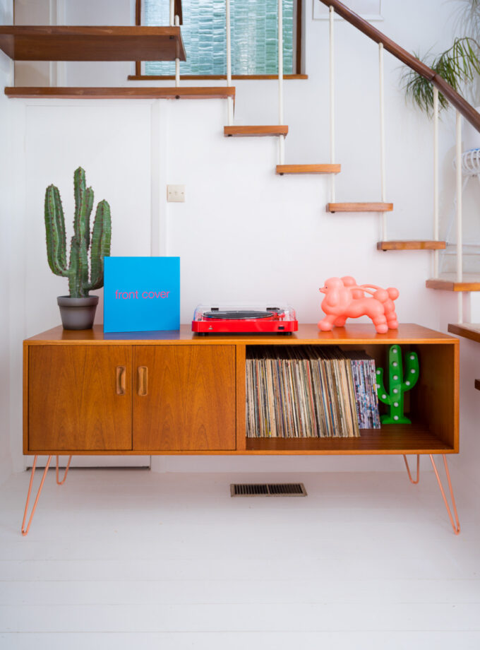 Hello Retro Design Gplan Sideboard on Copper Hairpin Legs