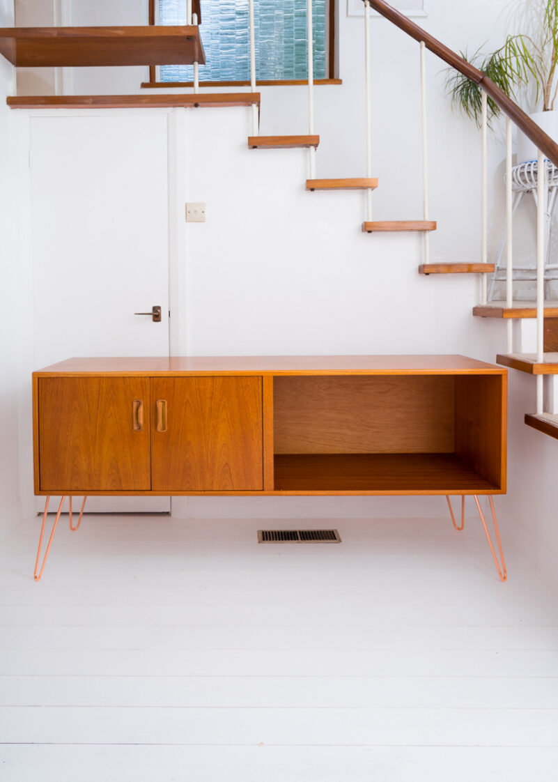 Hello Retro Design Gplan Sideboard on Copper Hairpin Legs
