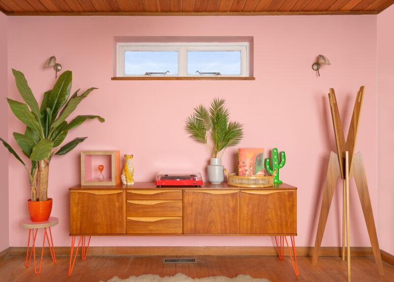 Hello retro Design Stonehill Sideboard on Orange Hairpin Legs